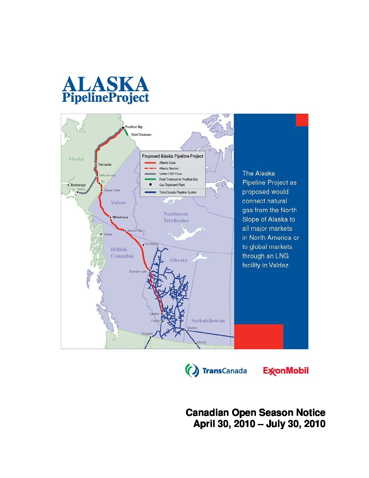 Description: The Alaska Pipeline Project Canadian open ...